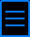 אייקון רשימת אייטמים כחול