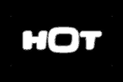 לוגו הוט צבע לבן
