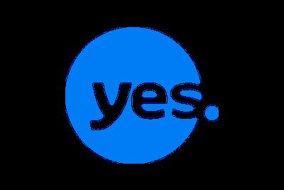 לוגו יס צבע כחול