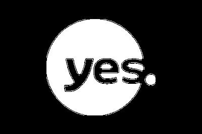 לוגו יס צבע לבן